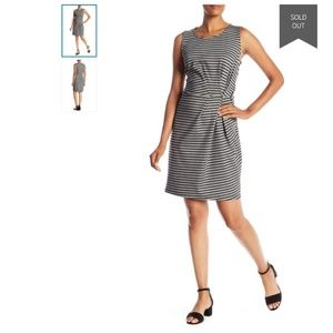 Anthropologie Cocktail Party Striped Shift Dress M